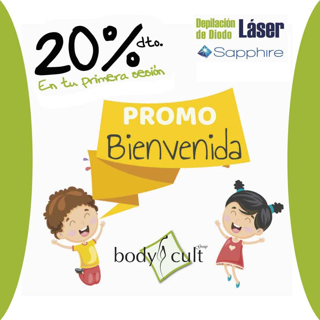 promo bienvenida bodycult - depilacion laser de diodo - sapphire