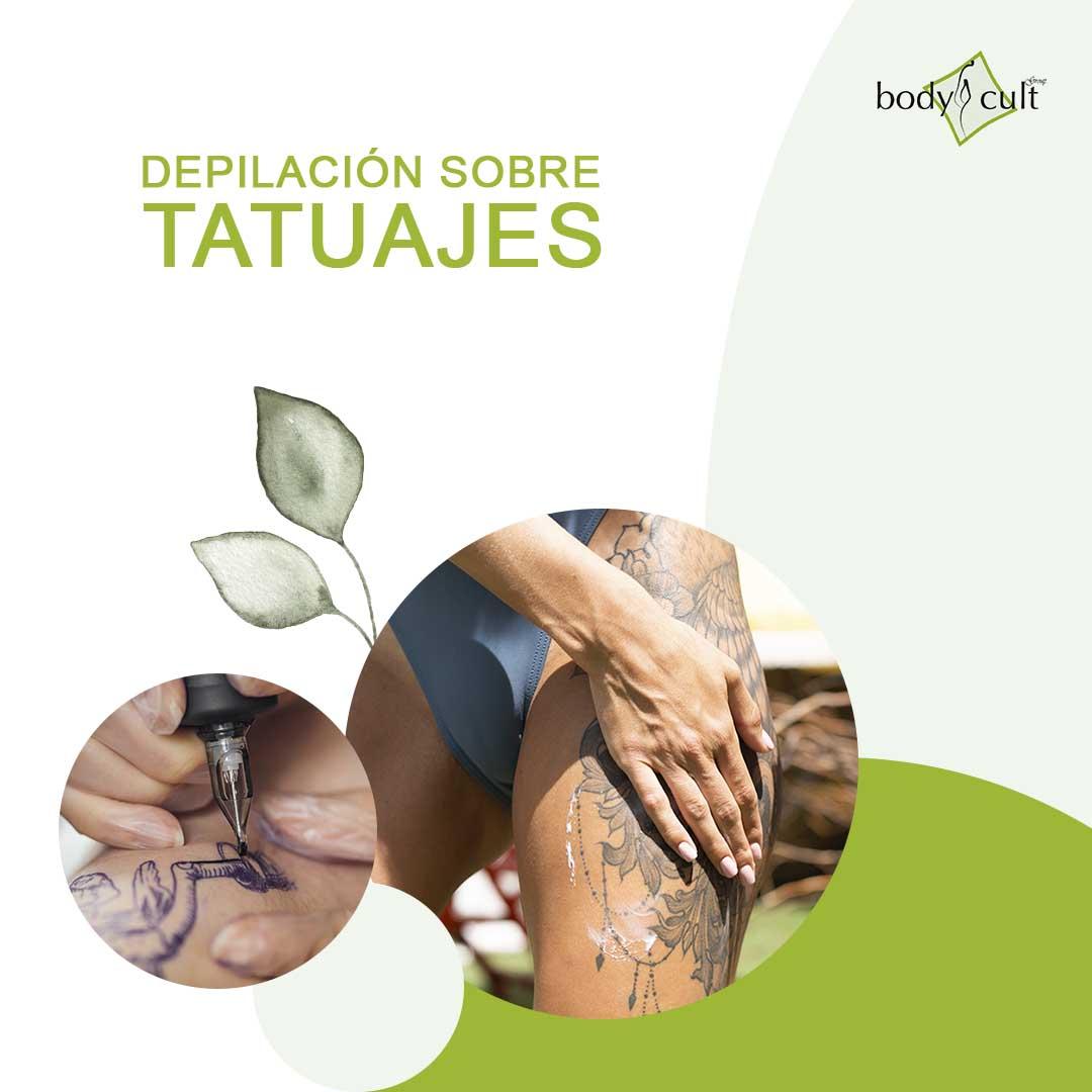Depilacion sobre tatuajes - depilacion laser - sapphire - centro bodycult - laser de diodo